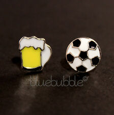 FUNKY BOYS MENS SINGLE FUN STUD EARRING RETRO NOVELTY COOL BROTHER DAD GIFT EMO