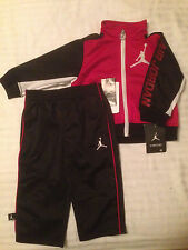 NWT Boys Nike Air Jordan 2pc Jacket Pants Outfit Set Neon Logo Clothes SZ 12 18M