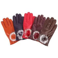 Winter Supple Nappa Faux Leather Faux Leather Warmer Gloves Fleece Lining Mitten