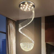 Elegant Modern K9 Crystal Flush Mount Chandelier Ceiling Light Fixture 110-240V