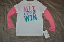 Under Armour Baby Infant Girls ALL I WANT TO DO IS WIN Long Sleeve T-Shirt NWT