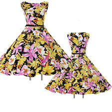 SO CHEAP~ Vintage 50s 60s Swing Pin Up Floral Cocktail Evening Prom Party Dress
