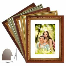 Wooden frame MEXICO change frame in gold, silver, brown, teak and maroon