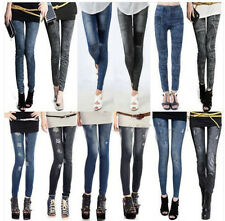 Women Denim Jeans Sexy Skinny Leggings Jegging Tights Stretch Pants Trousers New