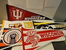 "Lot of two (2) Sports Pennants. Big Ten teams. 12"" x 29"". Choose the teams"