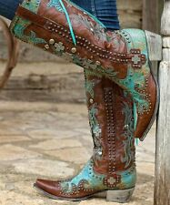 JAW DROPPING! LANE/DOUBLE D RANCH AMMUNITION BOOTS! TURQ