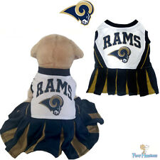 NFL Pet Fan Gear ST. LOUIS RAMS Cheerleader Outfit Dress for Dog Dogs Puppy