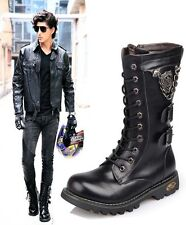 2014 Sreet NEW Rock TOP PUNK -COOL Men Fashion Motorcycle long Boot# leather-C69