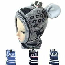 Children's Hat With Ears Tube Hat Bow Hat Beanie Hat Knitted Scarf K915