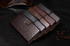 Deluxe Genuine Leather Wallet Flip Stand Case Cover For Samsung Galaxy Note 4