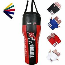 TurnerMAX Boxing Heavy Punching Angle Body Upper Cut Bag MMA + Gloves Muay Thai