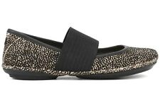 Camper Right Nina 21595 037 Womens Black White Dots Casual Lifestyle Flat Shoes