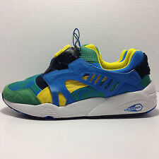 PUMA '35787601' Disc Cage Tropicalia Leather (Green/Yellow/French Blue) Sneakers