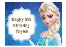 Disney FROZEN Edible Birthday Party Cake Topper Decoration Cake Transfer Persona