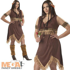 Sexy Indian Princess Plus Size Ladies Western Fancy Dress Womens Adult Costume