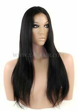 """100% PREMIUM INDIAN REMY HUMAN HAIR LACE FRONT WIG Light Yaki 8"""" TO 24"""""""