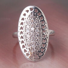 New arrival!18K white gold filled White sapphire antique style ring Size6&7&8