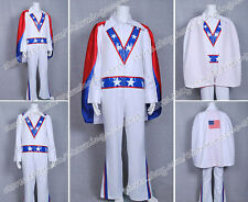 Motorcycle Daredevil Cocplay Evel Knievel Patriotic Costume V3 Jacket+Pants+Cape