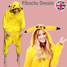 UK Stock Anime Pikachu Pokemon Onesie Cosplay Costume Kigurumi Pajamas Sleepwear