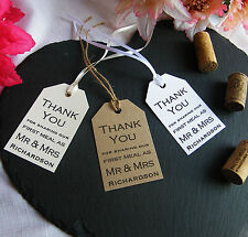 Personalised Wedding First Meal Favour Tags - Vintage