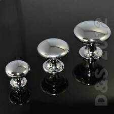 3Szs Oblate Chrome Kitchen Cabinet Wardrobe Pull Cupboard Drawer Door Knob Ultra