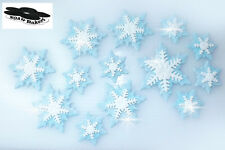 Sugar Glitery Snowflakes Decoration Birthday Wedding Edible Cake Cupcake Toppers