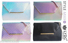 LYDC London Designer Hologram Shoulder Handbag Evening Party Clutch Bag Purse