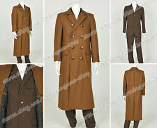 Doctor Cosplay We Make The 10th Dr Costume Strip Uniform Brown Wool Trench Coat