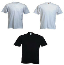 3 Pack Fruit of the Loom Polo Shirt Mens Round Neck Tshirt Cotton 3 Colours New