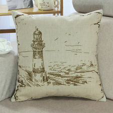 Euphoria French Script Fabric Scatter cushionshell Drawing Sailing cushion cover