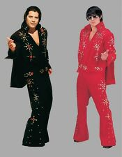 DELUXE ELVIS PRESLEY COSTUME Two-Piece Cape Rhinestone 'The King' Rock Star USA