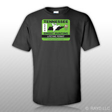 Tennessee Ghost Hunting Permit T-Shirt Tee Shirt Free Sticker Paranormal Hunter