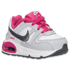 Nike Air Max Command Girls Toddler White/Pink/Grey Athletic Shoes 412232 111