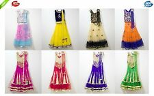 Children's Girls Partywear Indian Traditional Lehenga Ghagra Choli Ages 8-11