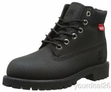 """Timberland 6"""" Waterproof Helcor Leather Boot-Junior-Black-6597- Many Sizes!"""