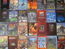 citadel warhammer & lord of the rings catalogues game books etc multi-list lotr