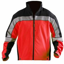 Blauer Colorblock Softshell Fleece Jacket NEW WITH TAGS Red/Navy Reflective