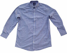 Stafford Travel Wrinkle-Free Stripe Long Sleeve Comfortable Oxford Dress Shirt