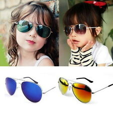 New Stylish Baby Boys Girls Kids children aviator Sunglasses Metal Frame Goggles