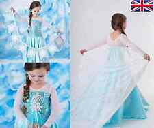 *PRINCESS ELSA STYLE COSTUME FANCY DRESS QUEEN GIRLS OUTFIT * PRICE NOW FROZEN *