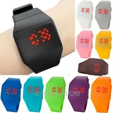 Femme Hommes Ultra Thin LED Digital Touch Silicone Sport Montre Bracelet Watch P