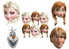 DISNEY FROZEN Anna, Elsa, Olaf, Sven Party Masks - Matching Items in My Shop