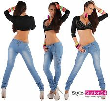 Jeans H55 Women's Sexy Skinny Tube Jeans Denim Trousers Checkered XXS 4 - 3XL 18