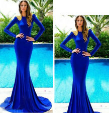 Ladies Cocktail Dress Party Formal Evening Ball Prom Dresses Wedding Gown Blue