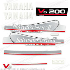 Yamaha 200hp OX66 Saltwater Series II Outboard Decal Kit Fuel Injected Engines