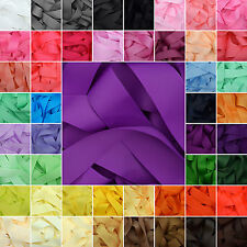 Grosgrain Ribbon in 50 Plain Solid Colours 3 6mm 10mm 15mm 22mm 25mm 38mm