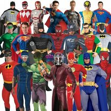 DELUXE ADULT MENS MUSCLE CHEST SUPERHEROES SUPERHERO MOVIE FANCY DRESS COSTUME
