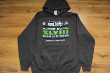 SEATTLE SEAHAWKS NEW NFL SUPER BOWL CHAMPIONS LOCKER ROOM HOODED SWEATSHIRT