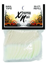 Xtreme Nails 50pcs Refill Pack - NATURAL/SHALLOW WELL