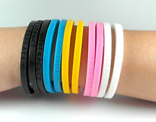 LOVE & PEACE Fashion Rubber Silicone Wrist Bands Bracelets Bangles Unisex Color